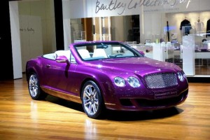 Bentley Continental GTC Series, лилового цвета